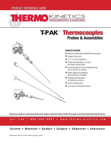 T-PAK® Thermocouples Probes and Assemblies