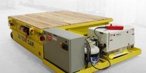 propane-powered steerable transfer cart