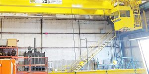 bridge-crane-custom-2x5ton-with-ElectroMagnet-LiftingBeam-with-cab