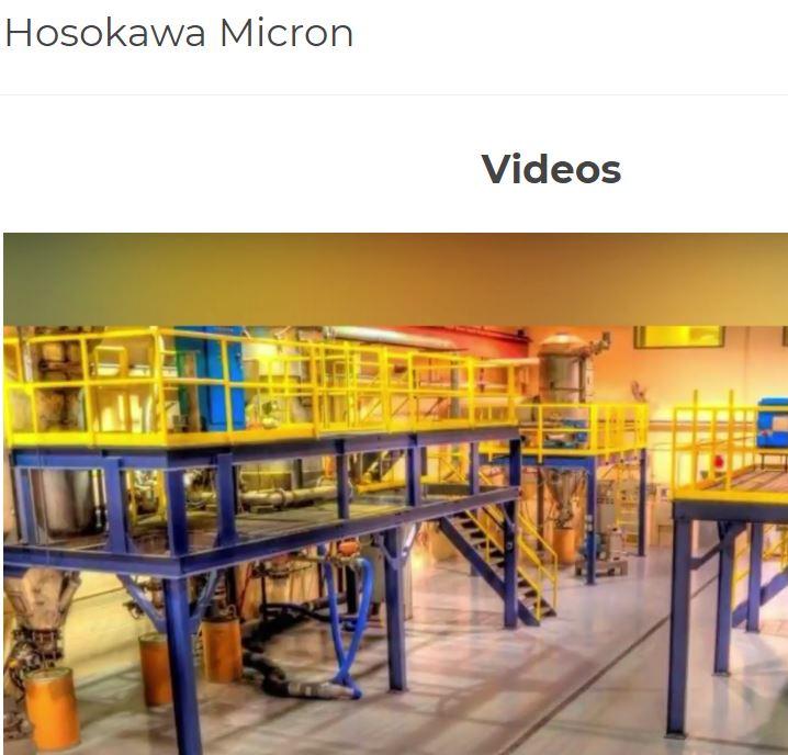 powder processing machinery