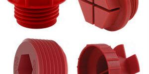 threaded plastic plugs