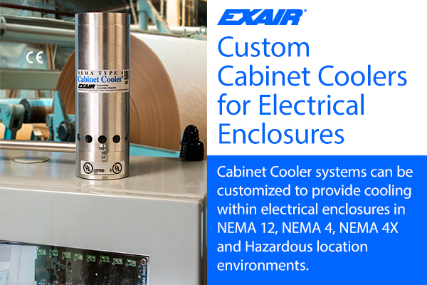 Custom cabinet coolers by EXAIR can be installed in minutes