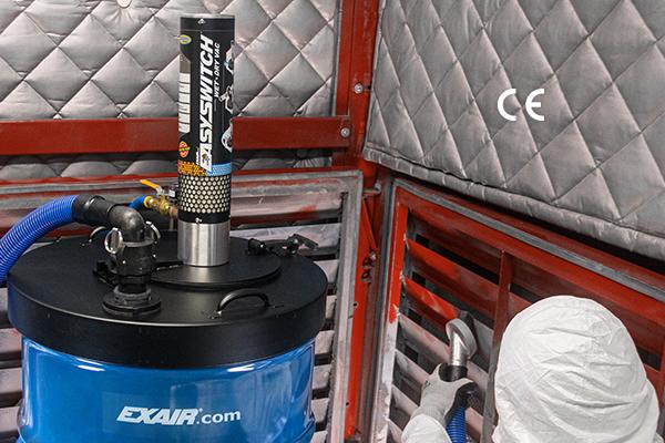 pneumatic HEPA vacuum